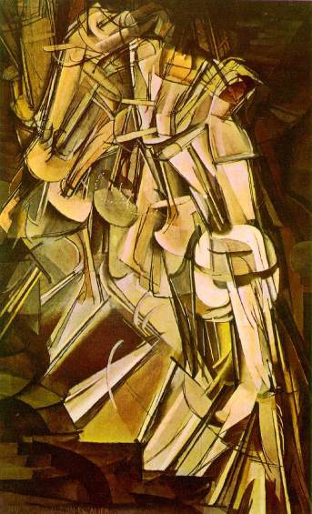 Marcel Duchamp's Nude Descending a Staircase, 1912. Image: invisiblebooks.com