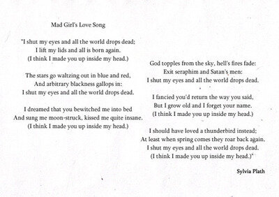 Mad Girl's Love Song, 1951. Image: tristavega.blogspot.com
