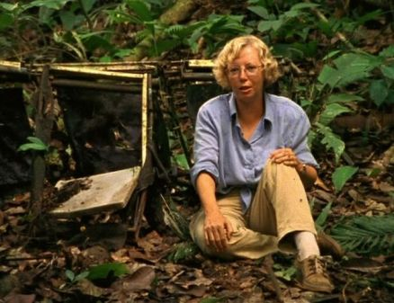 Juliane Koepcke revisiting the jungle in 1998. Image: iquitostimes.com