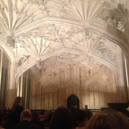 The Divinity School at The Bodleian Library. A beautiful and perfect venue.