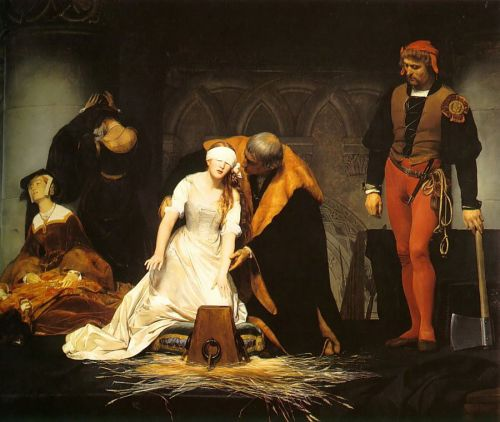'The Execution of Lady Jane Grey' by Paul Delaroche. Image: artilim.com