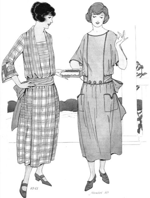 I imagine Frances would have worn something like this, from 1922 edition of Fashion Service magazine (image: dressmakingresearch.com)